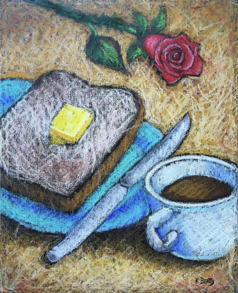 Wall Art - Painting - Toast And Roses by Karla Beatty