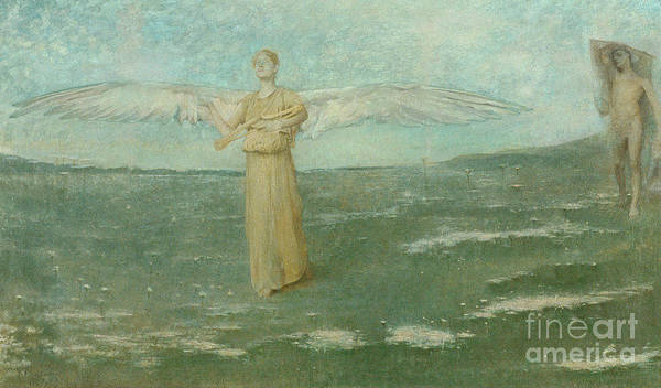 Wall Art - Painting - Tobias And The Angel, 1887 by Thomas Wilmer Dewing