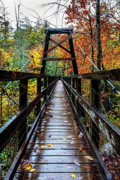 Photograph - Toccoa River Hanging Bridge by Debra and Dave Vanderlaan