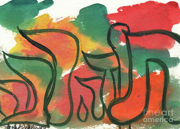 Painting - Todah Rabbah  2 by Hebrewletters Sl