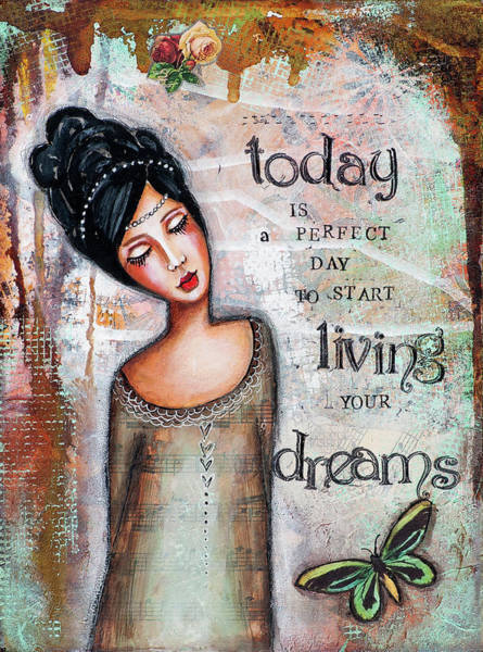 Wall Art - Mixed Media - Today Is A Perfect Day by Stanka Vukelic