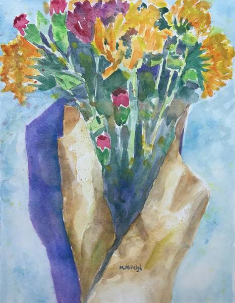 Wall Art - Painting - Todays Bouquet by Marita McVeigh