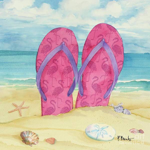 Wall Art - Painting - Toes In The Sand Iv by Paul Brent