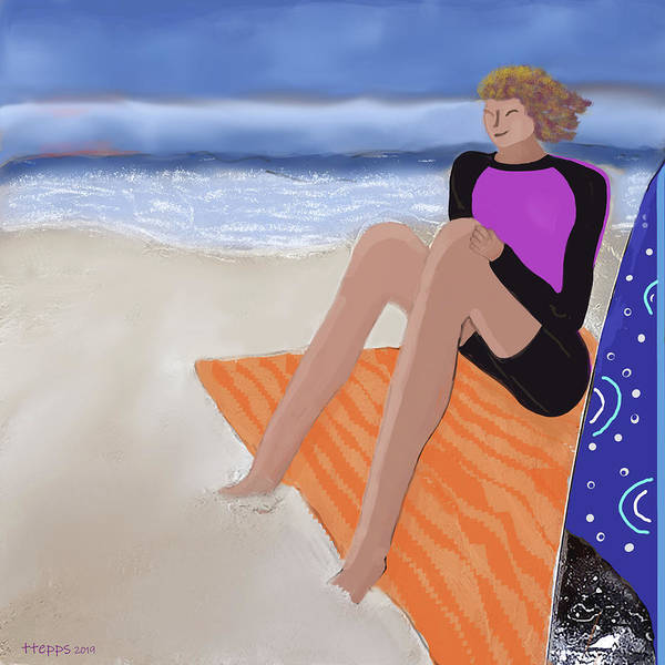 Digital Art - Toes In The Sand by Teresa Epps