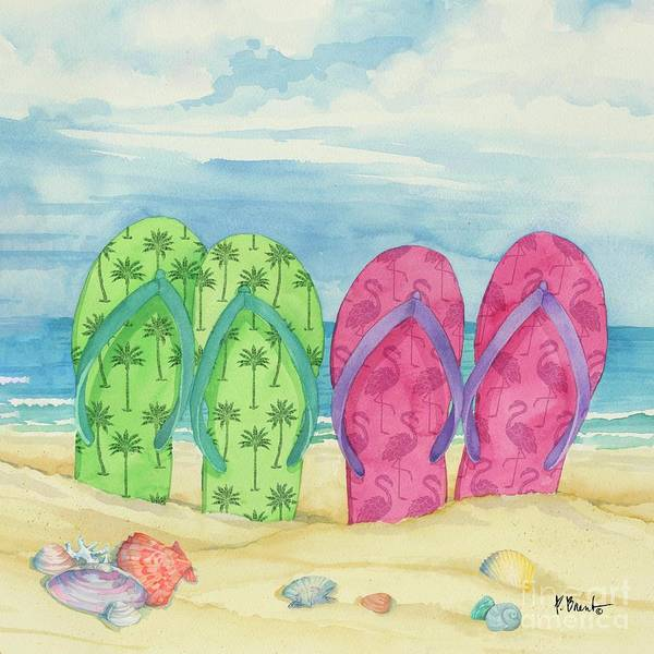 Wall Art - Painting - Toes In The Sand Vi by Paul Brent