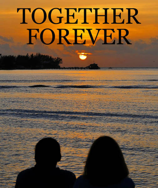 Wall Art - Photograph - Togehter Forever Card / Poster by David Lee Thompson