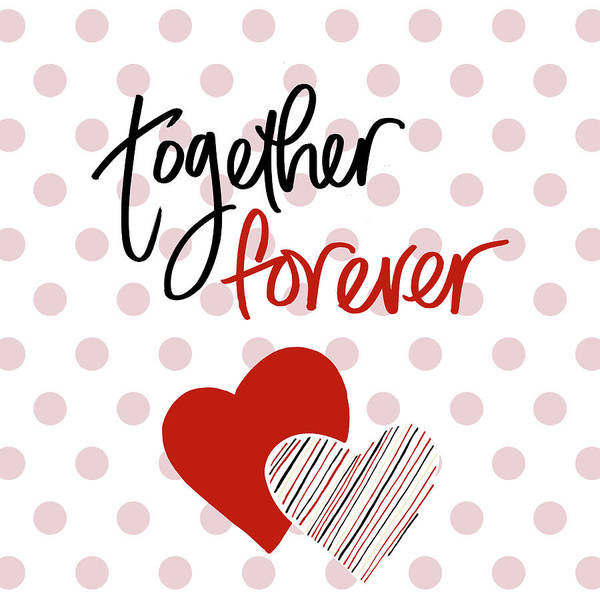 Wall Art - Mixed Media - Together Forever by Sd Graphics Studio