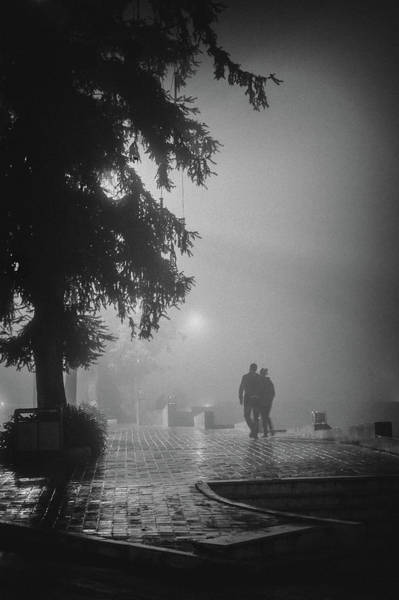 Photograph - Together In Fog, Sa Pa, 2014 by Hitendra SINKAR