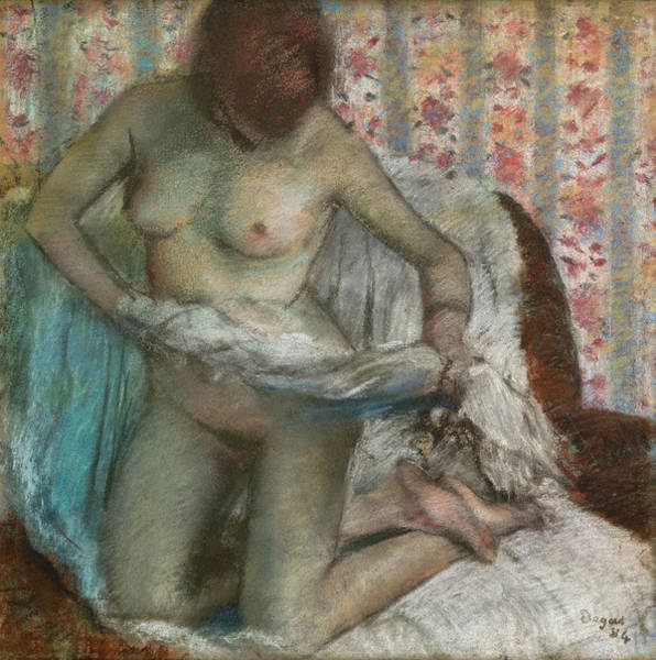 Wall Art - Painting - Toilet Of A Woman by Edgar Degas