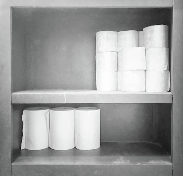 Wall Art - Photograph - Toilet Paper Rolls And Paper Towels Taco Restaurant Fredericksburg Va by Andrew Wohl