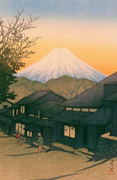 Wall Art - Painting - Tokaido Yuicho Fuji - Top Quality Image Edition by Kawase Hasui