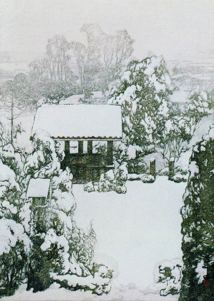 Wall Art - Painting - Tokyo 12title, Snow In Nakazato -  Digital Remastered Edition by Yoshida Hiroshi