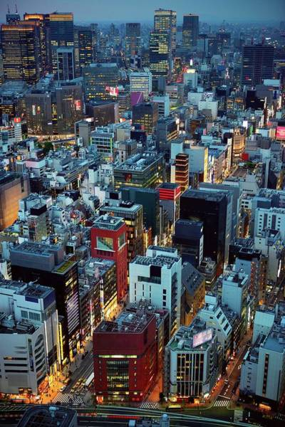 Ginza Wall Art - Photograph - Tokyo Aerial View Of Twilight by Vladimir Zakharov