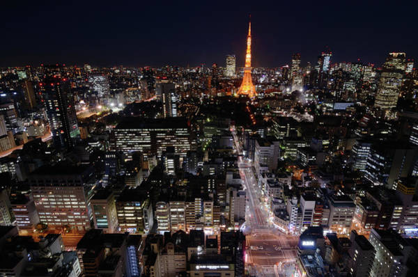 Japanese Culture Photograph - Tokyo At Night by Sugimoto Yasuaki