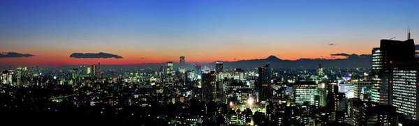 Wall Art - Photograph - Tokyo At Sunset Panorama by Vladimir Zakharov