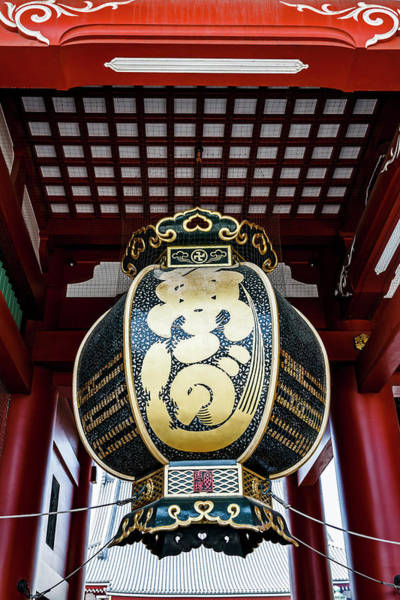 Wall Art - Photograph - Tokyo, Japan Large Green Lantern by Miva Stock