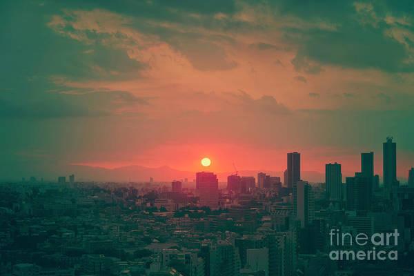 Wall Art - Photograph - Tokyo Japan Sunset by Ivan Krpan