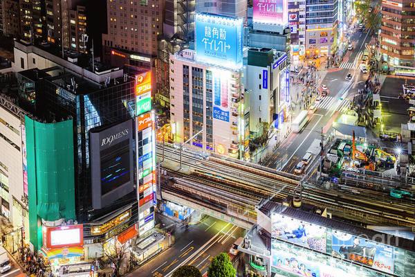 Wall Art - Photograph - Tokyo Lights, Japan by Matteo Colombo
