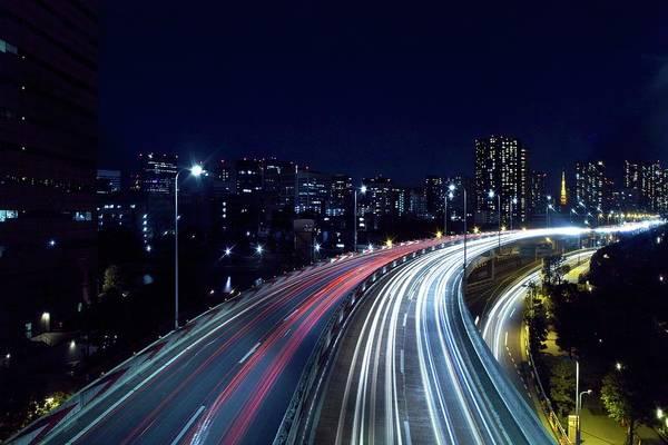 Rush Hour Photograph - Tokyo Metropolitan Expressway by Sinkdd