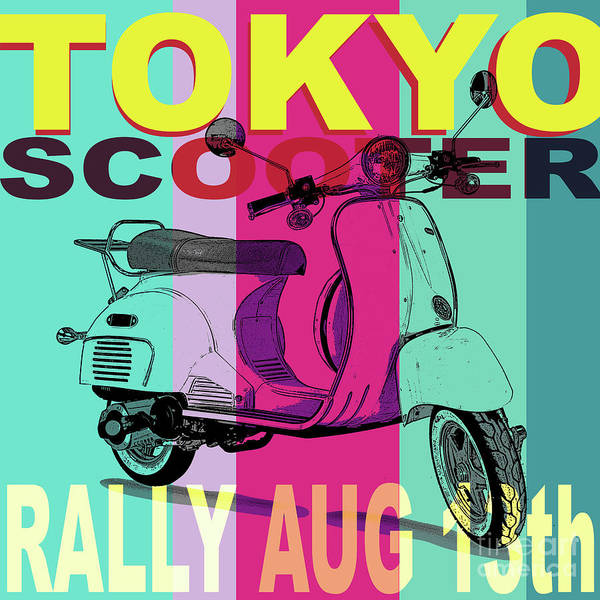 Digital Art - Tokyo Motor Rally by Edward Fielding