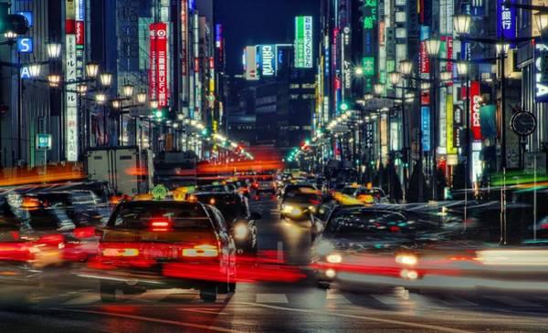 Ginza Wall Art - Photograph - Tokyo Neon by Chris Jongkind