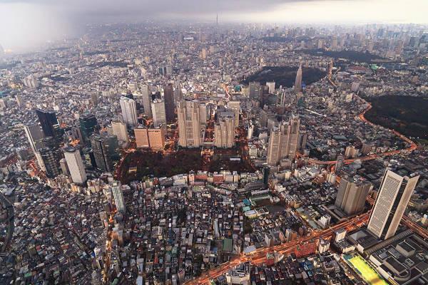 Suburbs Photograph - Tokyo - Shinjuku Government District by Berthold Trenkel