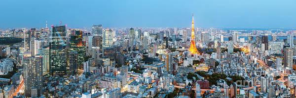 Wall Art - Photograph - Tokyo Skyline Panoramic, Japan by Matteo Colombo