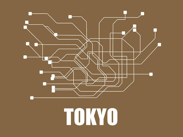 Wall Art - Digital Art - Tokyo Subway Map 2 by Naxart Studio