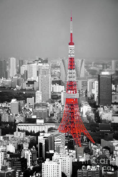 Wall Art - Photograph - Tokyo Tower by Delphimages Photo Creations