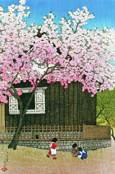Wall Art - Painting - Tokyo Twelve Collection, Atago Mountain, Spring - Digital Remastered Edition by Kawase Hasui