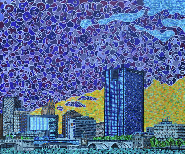 Wall Art - Painting - Toledo, Ohio by Micah Mullen
