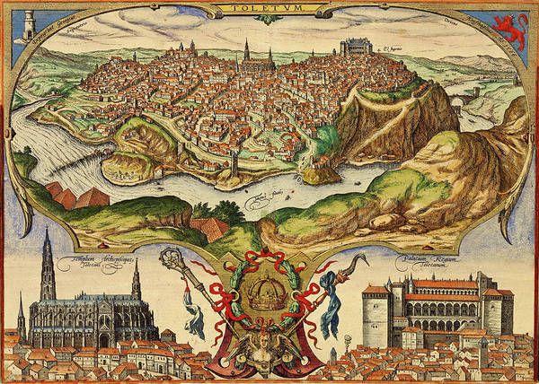 Photograph - Toledo Spain 1598 by Andrew Fare