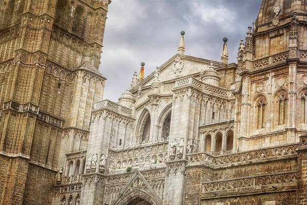 Photograph - Toledo Spain Cathedral Facade by Joan Carroll