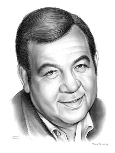 Wall Art - Drawing - Tom Bosley by Greg Joens