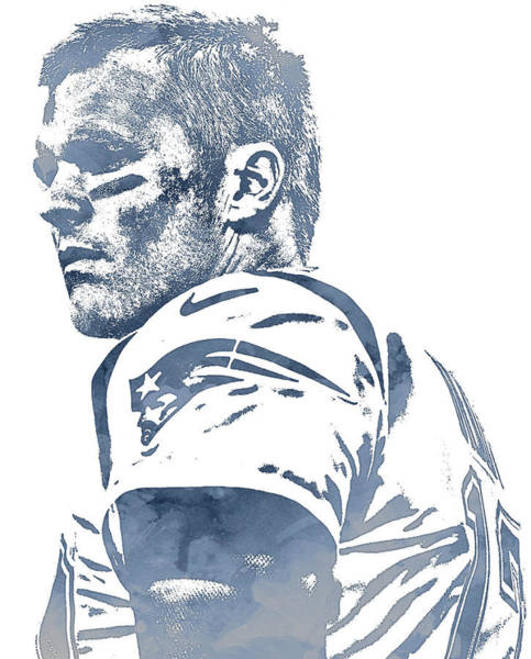 Wall Art - Mixed Media - Tom Brady New England Patriots Pixel Art 150 by Joe Hamilton