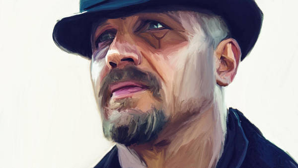 Michael Miller Wall Art - Painting - Tom Hardy by Michael Miller