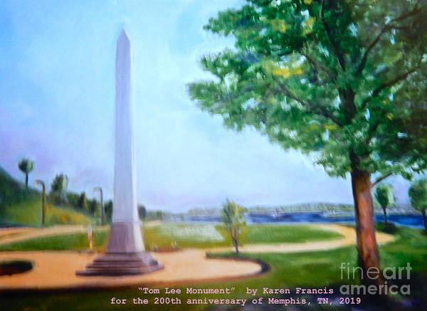 Wall Art - Digital Art - Tom Lee Monument Anniversary Print by Karen Francis