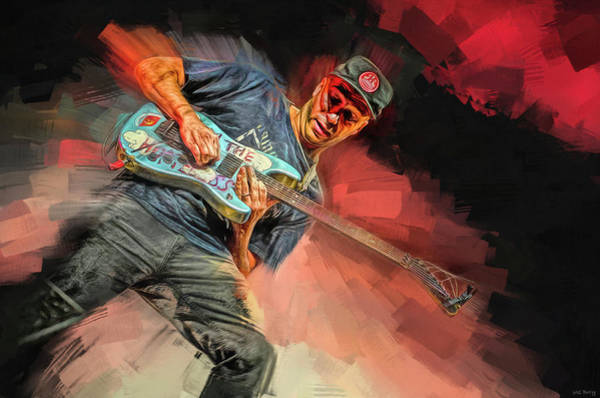 Rap Mixed Media - Tom Morello by Mal Bray