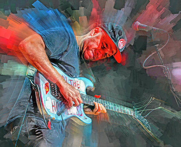 Rap Mixed Media - Tom Morello Musician by Mal Bray