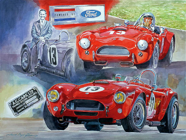 Painting - Tom Payne's No 13  289 Cobra Competition by David Lloyd Glover