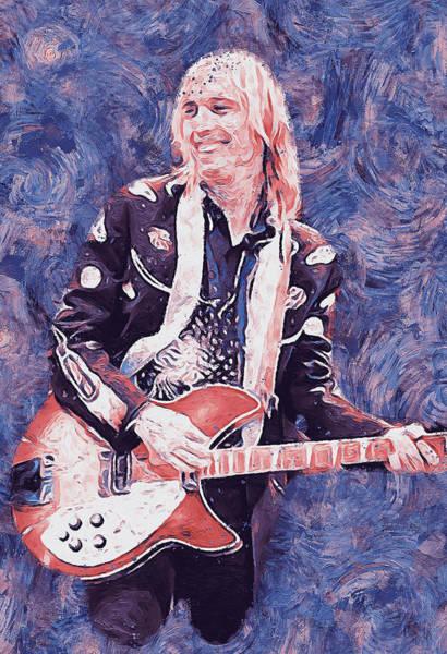 Painting - Tom Petty - 37 by Andrea Mazzocchetti