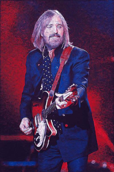 Painting - Tom Petty - 39 by Andrea Mazzocchetti