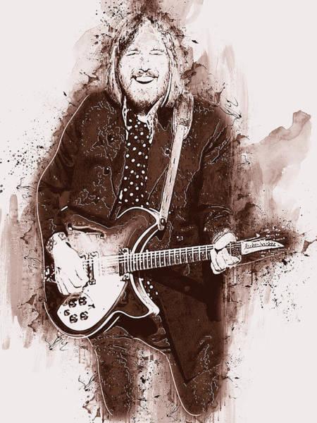 Painting - Tom Petty - 41 by Andrea Mazzocchetti