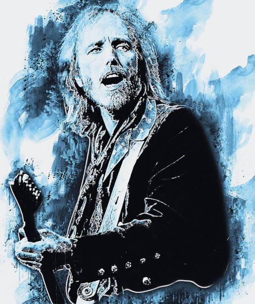 Painting - Tom Petty - 42 by Andrea Mazzocchetti
