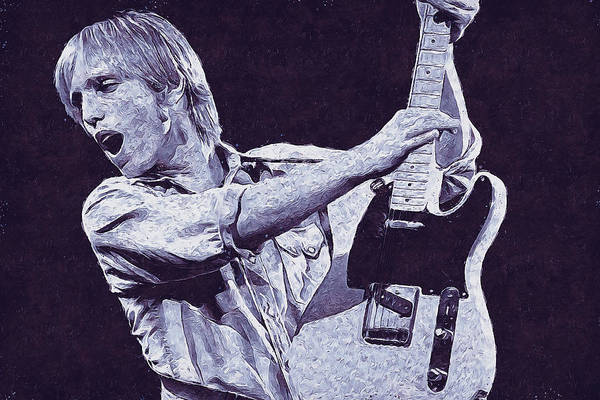 Painting - Tom Petty - 43 by Andrea Mazzocchetti