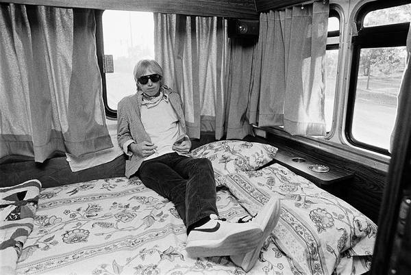Shoe Photograph - Tom Petty Poses In His Tour Bus by George Rose
