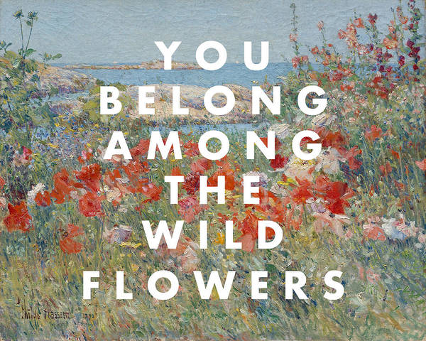 Digital Art - Tom Petty Wildflowers Lyrics Print by Georgia Fowler