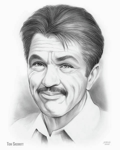Television Drawing - Tom Skerritt by Greg Joens
