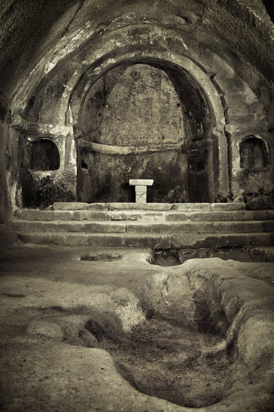 Photograph - Tomb And Altar In The Monastery Of San Pedro De Rocas by Fine Art Photography Prints By Eduardo Accorinti