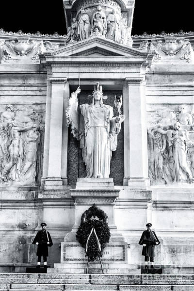 Photograph - Tomb Of The Unknown Soldier In Rome by John Rizzuto